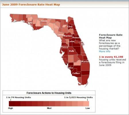 June 2009 FL Foreclosure Heatmap