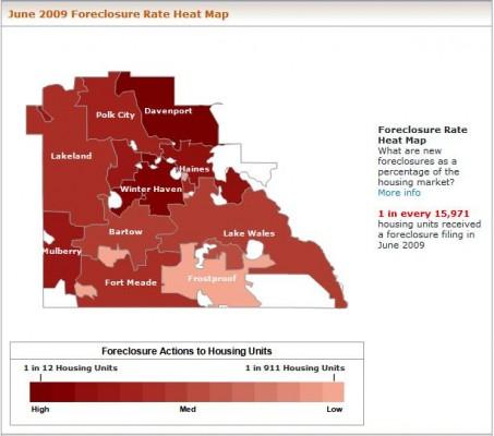 Polk County FC Heat Map June 2009