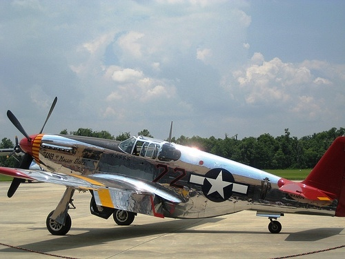 Just minutes from Lakeland, visitors to Fantasy of Flight can see WW II era fighting machines like this P31 Mustang C model.