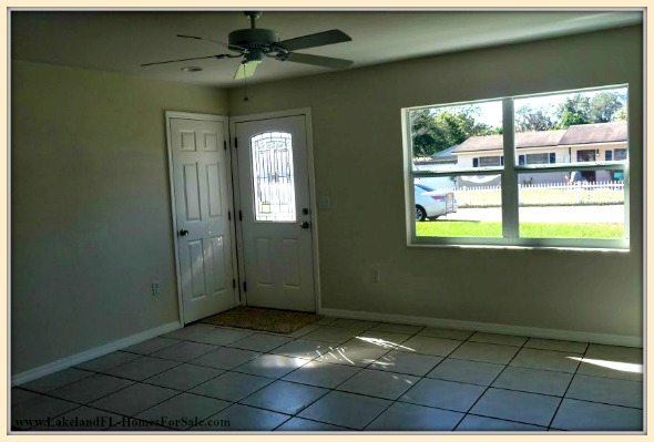 Have fun decorating your very own spacious living room in this newly remodeled Lakeland FL home for sale.