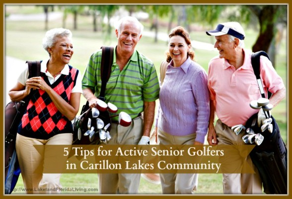 Find out the secrets of Carillon Lakes community senior golfers.