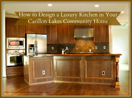Do you want to build your very own Carillon Lakes community luxury kitchen?