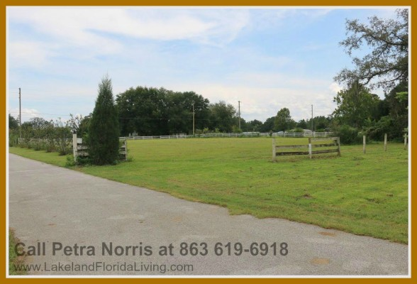 Take advantage of the wide area that surrounds this home for sale in Kathleen FL.