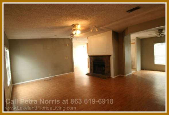 Enjoy the warmth of this wood burning fireplace in this home for sale in Kathleen FL.