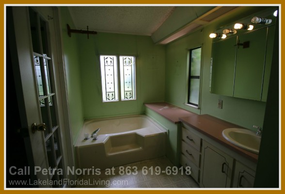 The amazing garden bath is what this home for sale in Kathleen FL boasts of.