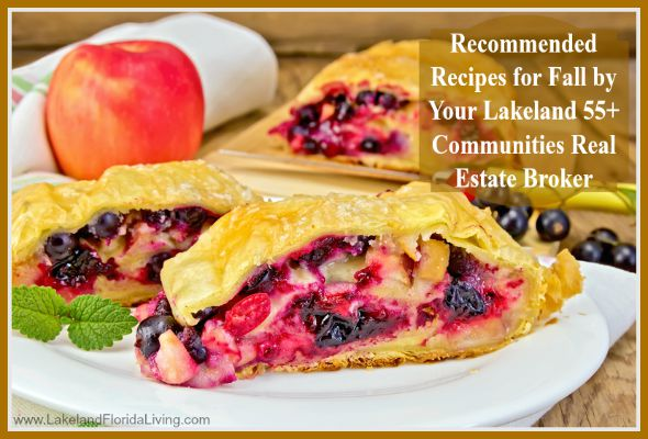 Here are delicious recipes you can enjoy in your Lakeland 55+ communities homes this fall season!